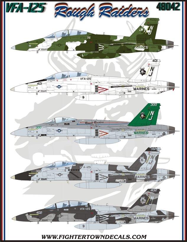 STICKER USN VFA 125 Rough Raiders